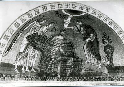 Mosaic in Hosios Loukas Monastery 11th century - Art Edition Spiros Meletzis Athens (26.IV.62)