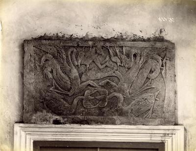 Istanbul, Archaeological Museum, bas-relief with Jonah in the fish's belly