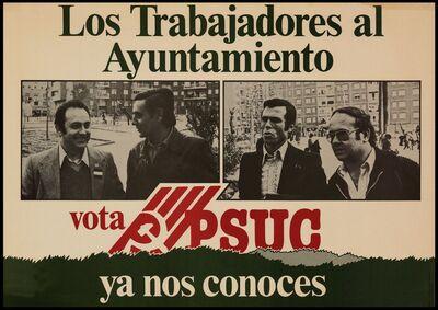 Los Trabajadores al ayuntamiento vota PSUC, ya nos conoces/