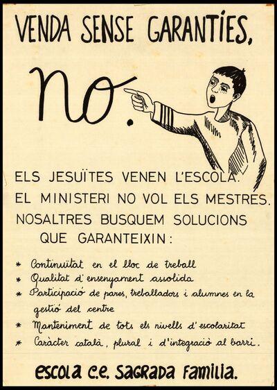 Venda sense garanties, no els jesuïtes venen l'escola… /