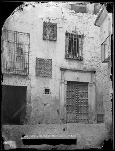 Calle de las Bulas. Casa del Cardenal Cisneros.