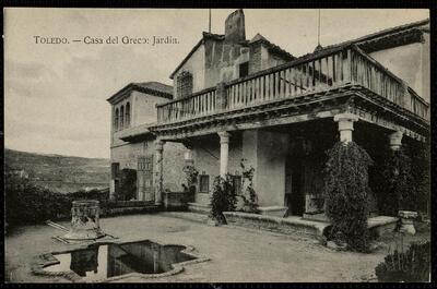 Toledo : Casa del Greco : Jardín.-.