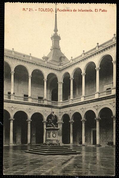 Toledo : Academia de Infantería. El Patio.-.