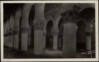 Toledo : Interior de Santa María la Blanca / Loty.-.