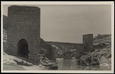 Toledo : Puente de San Martín y los baños de la Cava / Loty.-.