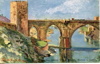 Brücke bei Toledo [Puente de Toledo].-.