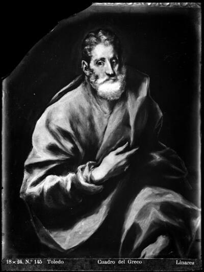 Toledo: Cuadro del Greco [San Pedro].