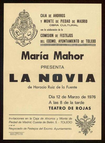 Cartel de la representación teatral de la obra