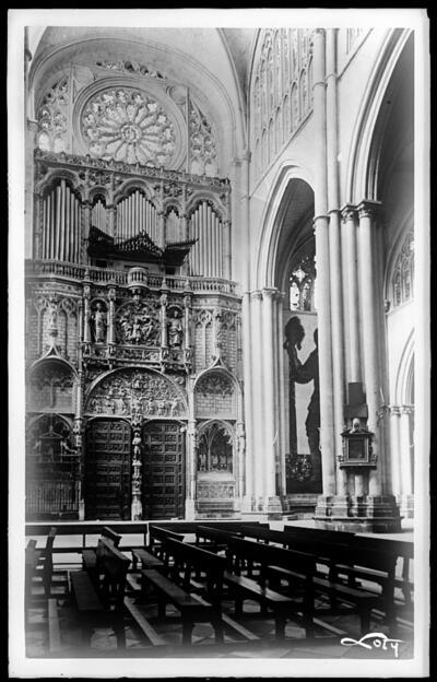 Toledo - Catedral. Interior de la Puerta de los Leones.
