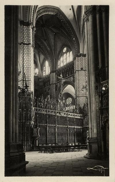 Toledo - Catedral. Reja del Altar Mayor.-.