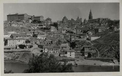 Toledo - Vista panorámica desde la Peña del Bocado.-.