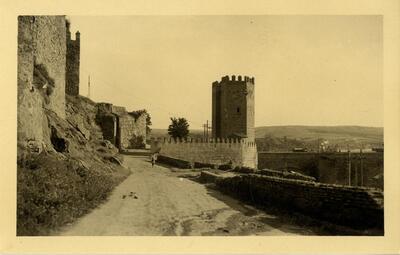 Toledo - Subida de Doce Cantos y puente de Alcántara.-.