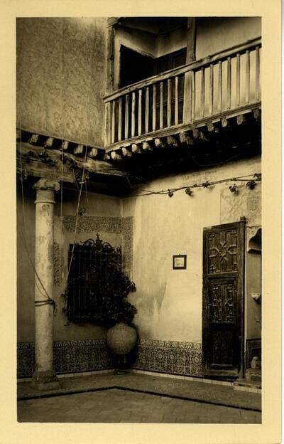 Toledo - Patio de la casa del Greco.-.