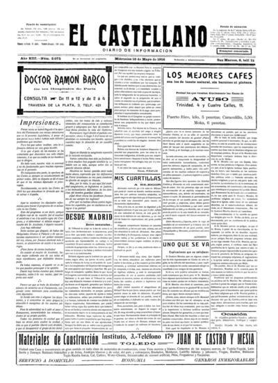 El Castellano. 10/5/1916, n.º 2.075.