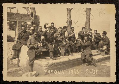 Soldiers of WWII celebrating Easter in Split | Pasqua a Split, soldati Italiani durante la seconda guerra mondiale