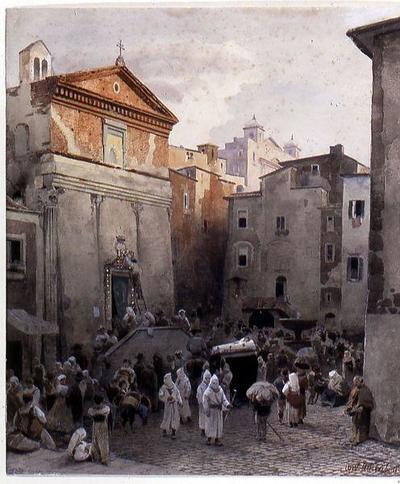 Leichenbegräbnis in Palestrina