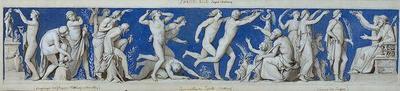 Entwurf für den Fries im Ball- und Konzertsaal des Dresdner Schlosses, erstes Bild: Kindheit