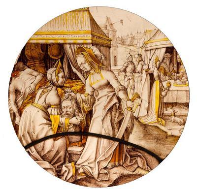 Entwurf für den Fries im Ball- und Konzertsaal des Dresdner Schlosses, viertes Bild: Hochzeit
