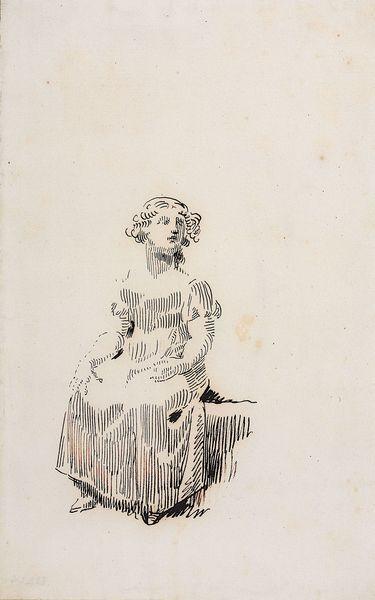 Sitzendes Mädchen