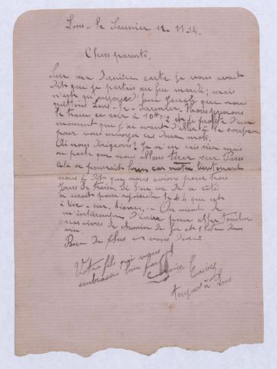 FRBNBU-125 Correspondance de Maurice Cornier, mort pour la France