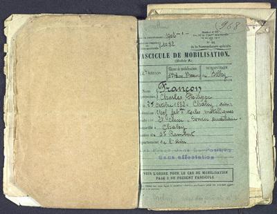 FRAD077-141B, Charles-Philippe Françon du 133e Régiment d'Infanterie