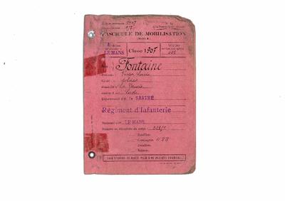 FRBMAN-003 Victor Louis Fontaine mort au combat d'Andechy, le 5 décembre 1914
