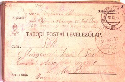 Alexandru Marginean -poveste de razboi in armata austro-ungara