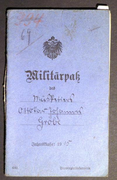 Musketier Johannes Ottokar Grobe aus Ehrenhain bei Altenburg