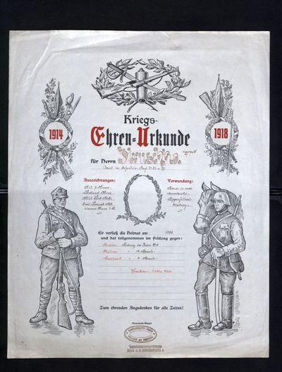 Liebesgabenurkunde und Ehren-Urkunde