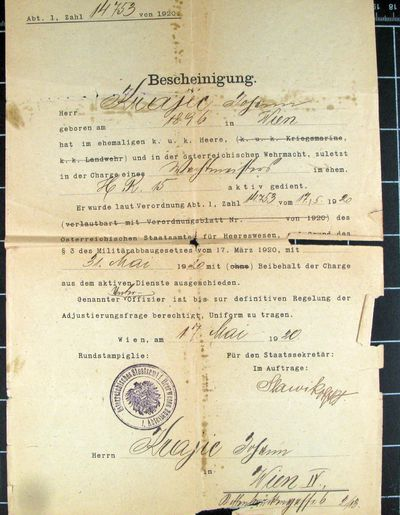 Dokumente von Johann Krajic