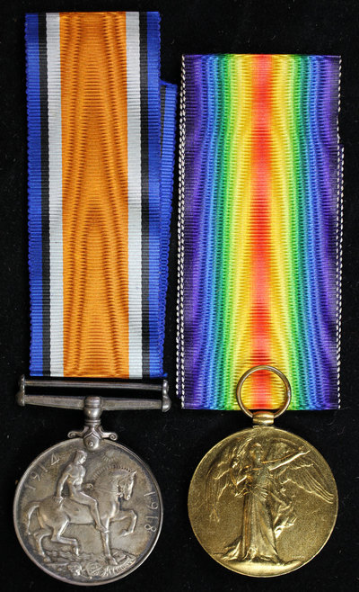 Service and campaign medals for Private William Fox