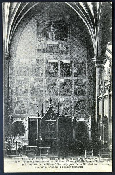 Postcard - Aire-sur-la-Lys. Frescoes of St Jacques de Majeur.