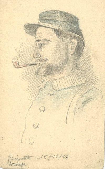 FRAMBC226Z Aquarelles, dessins et photographies d'Henri Houblain (1914-1918)