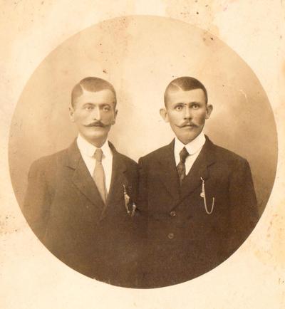 doposnica sa fotografijom Radenka Topalovića i Dragomira Minića iz 1916.