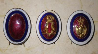 Serbian Army cap badges