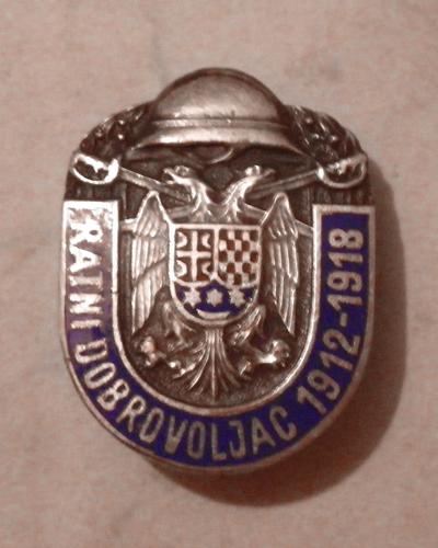 Serbian volunteers badge for 1912 - 1918