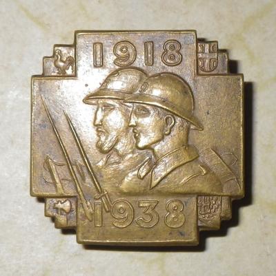 Kingdom of Yugoslavia 1918 - 1938 commemorative badge