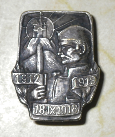 Serbian veterans badge for the Liberation Wars of 1912 - 1919
