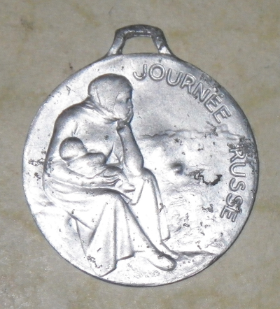 Medallion for France's Russian Day ('Journée Russe')