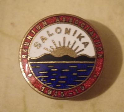 Salonika Reunion Association badge