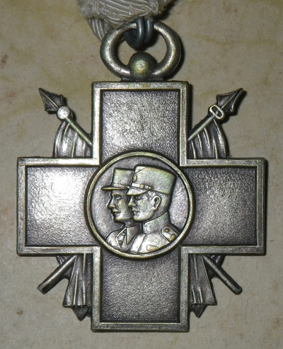 Kingdom of Yugoslavia Commemorative Cross of the Association of War Invalids