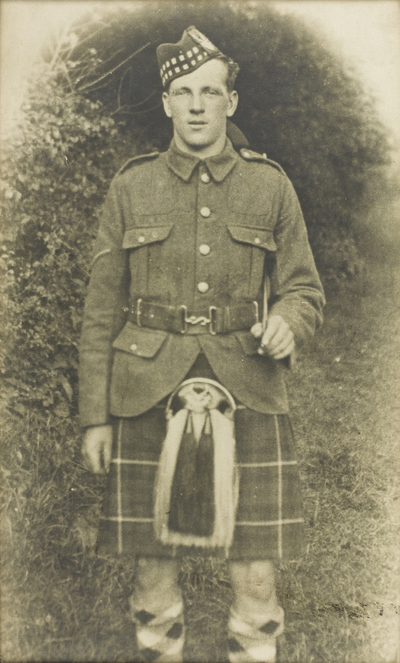Photograph of George Buchanan in uniform. © National Museums Scotland