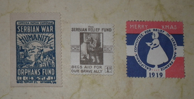 Serbian and French charity stamps