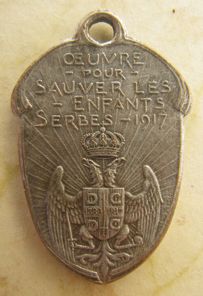 Serbian charity medal by Lordonnois