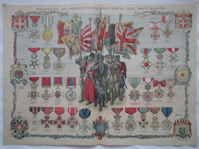 'Le Petit Journal' Allied medals colour plate