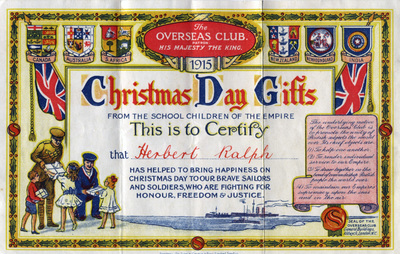 'Christmas Day Gifts', 1915.