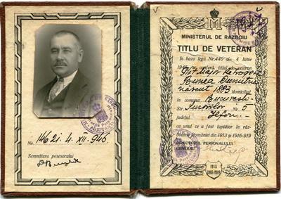 Povestea plutonierului  major Dumitru Bunea ctg. 1905