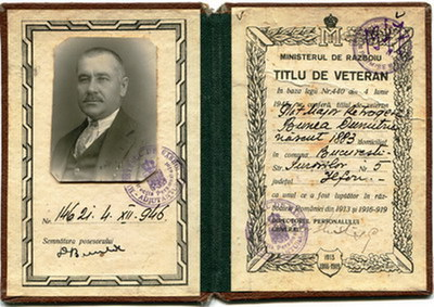 Plutonier major Dumitru Bunea ctg. 1905