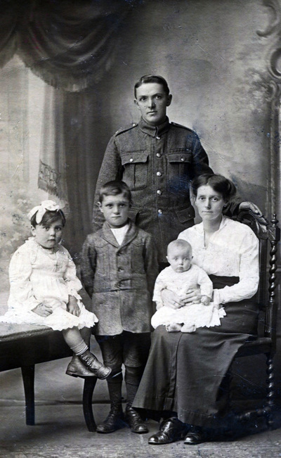 A British soldier and his family
