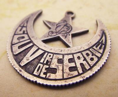 French-Serbian trench art medallion